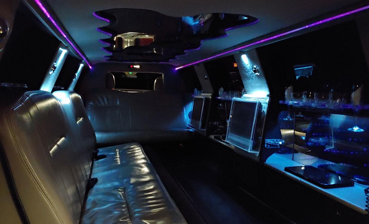 10-Passenger Limo Interior